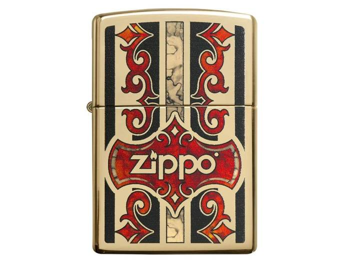 Zippo authentic fusion high polish brass lighter