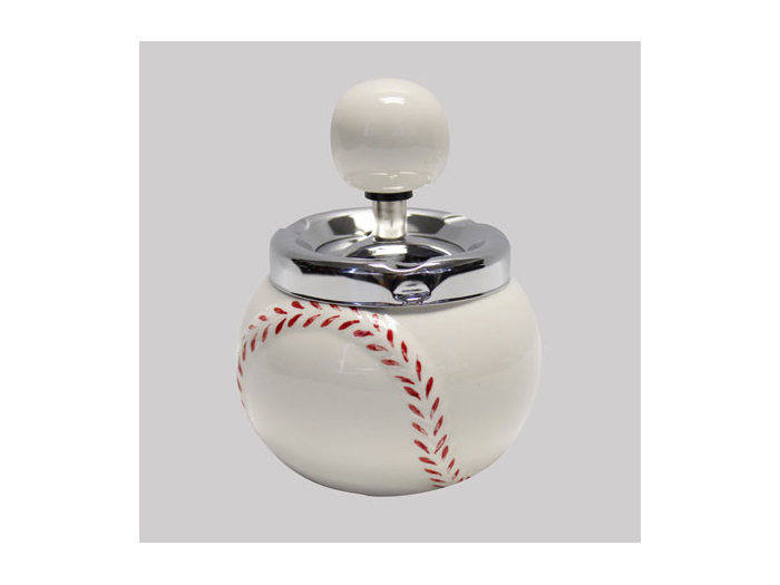 Ceramic Baseball spin ashtray