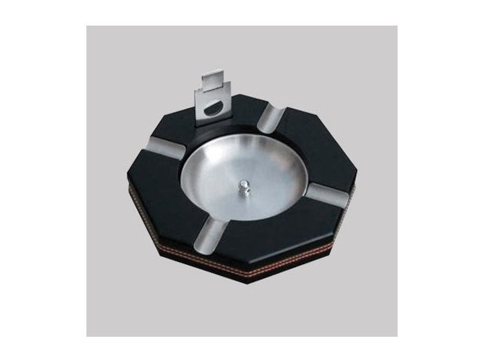 Octogonal ashtray Black