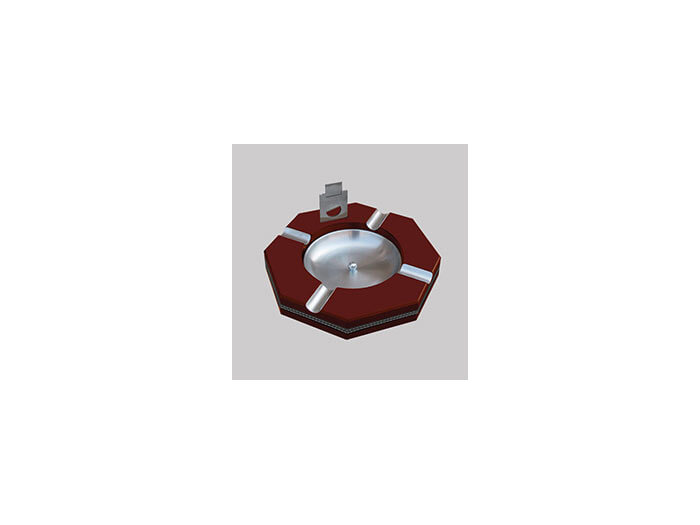 Octogonal ashtray Red