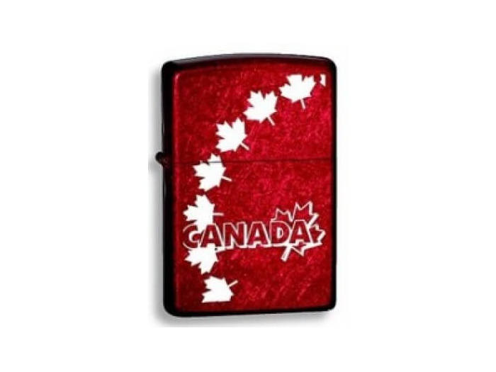 Zippo Canada Maple leaves Red backgroung lighter