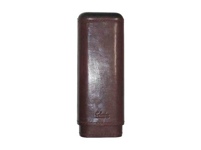 Wine with Black trim leather Churchill cigar case