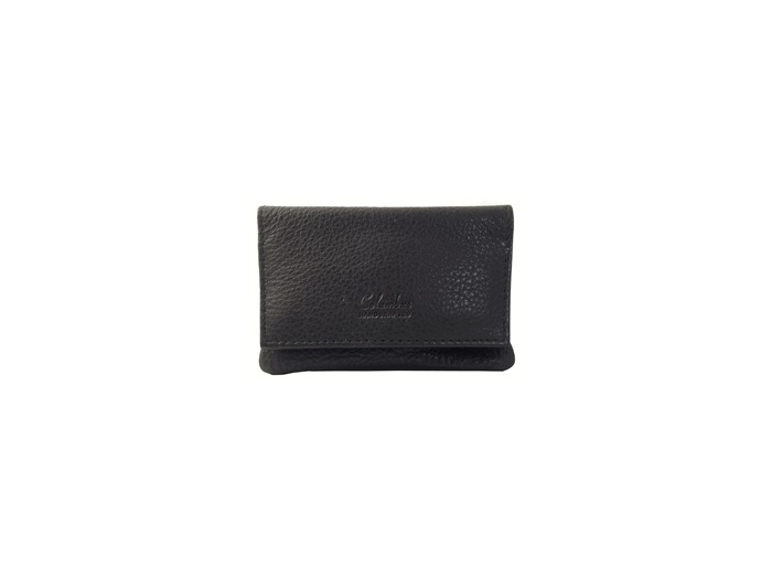 Black leather Columbus tobacco pouch