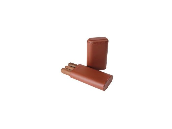 Telescopic Brown cigar case