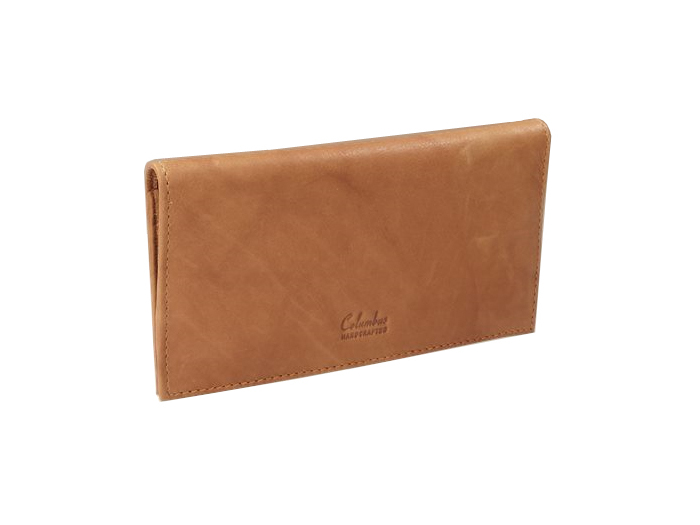 Columbus Tan leather tobacco pouch