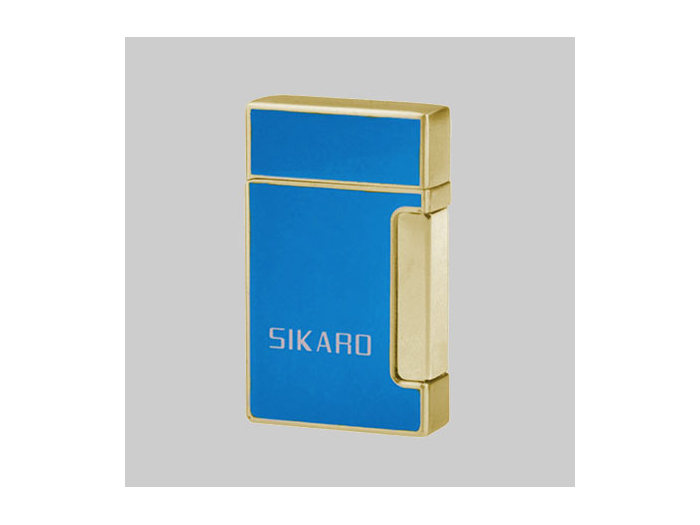 Sikaro double torch lighter Blue/Gold