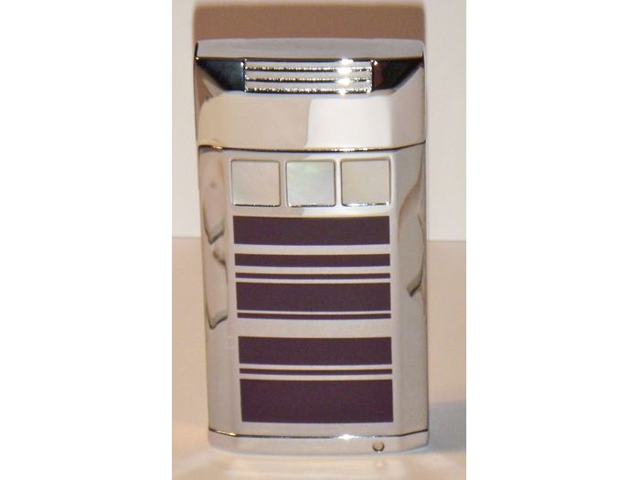 Mother of Pearl lighter purle/silver stripe