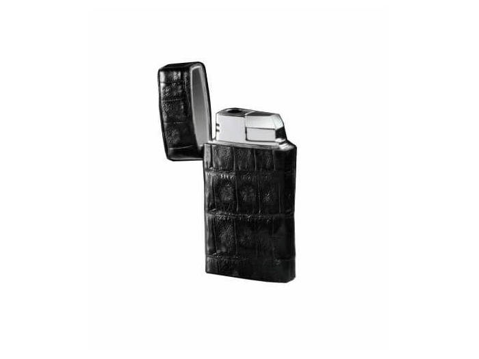 Brizard - Venezia Flountain Flame genuine Caiman Black lighter