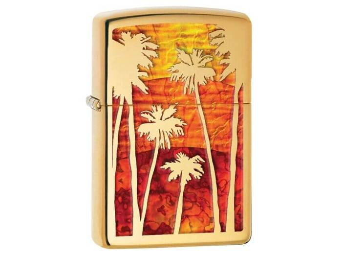 Zippo Palm tree sunset lighter
