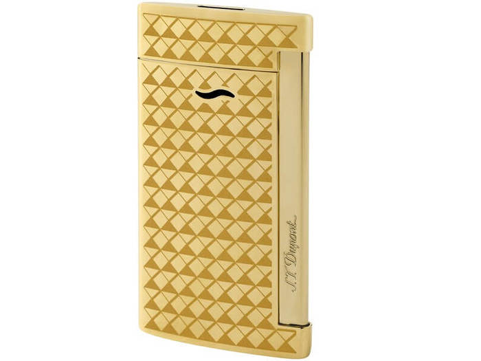 Dupont Slim 7 Golden Fire Head lighter