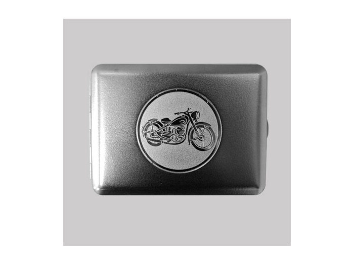 Metal cigarette case Motorcycle
