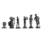 Lead Alloy Golf Chess Set