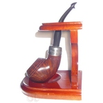 Single Cherry wood pipe stand