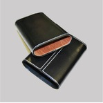 Black leather cigar case