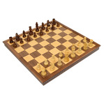 "20"" Folding Ebony wood chess set"