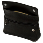 Columbus Black leather pipe/tobacco pouch