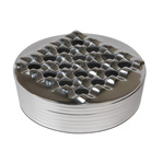 Metal grid round ashtray